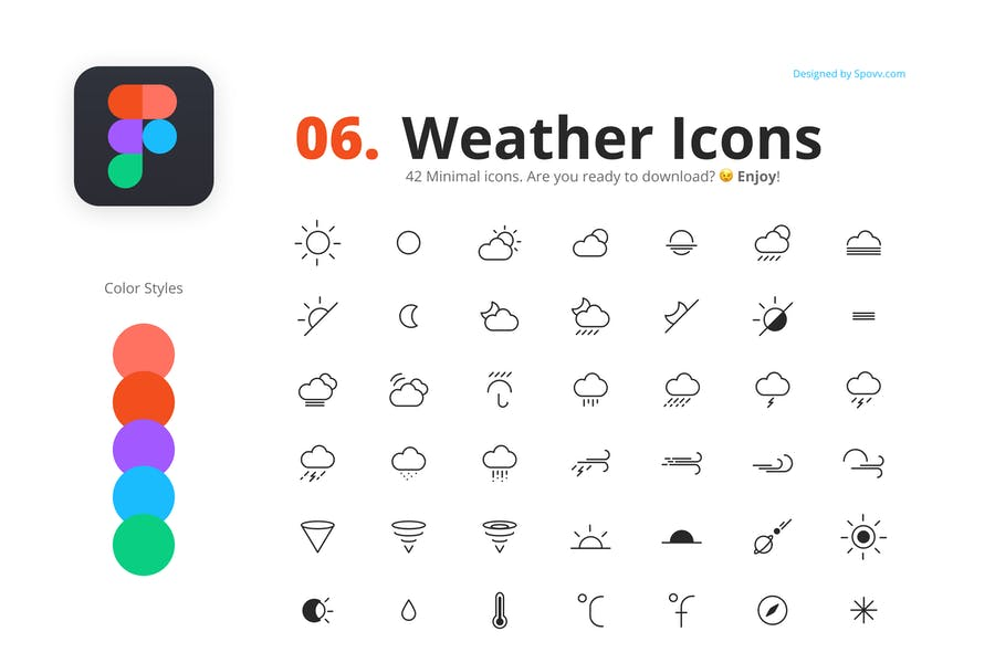 42 Modern Editable Climate Icons