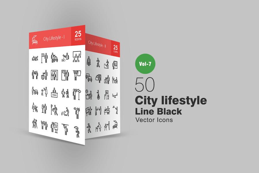 50 Lifestyle Icon Elements