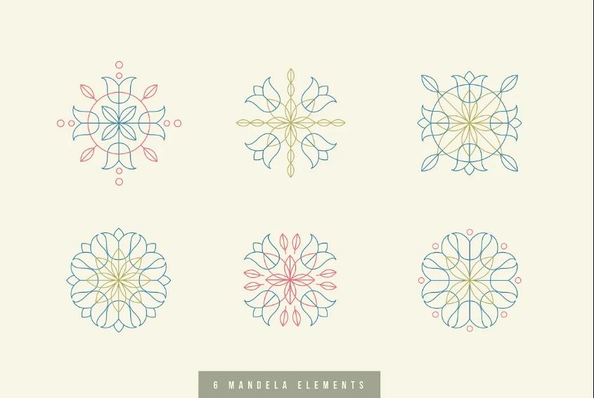 6 Unique Mandala Logo Designs