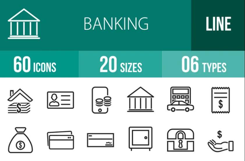 60 Banking Account Vector Elements