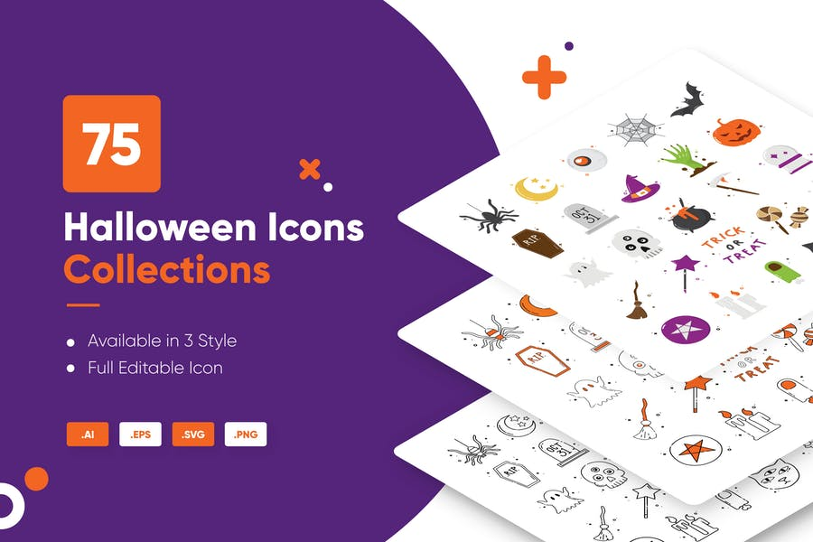 70 Unique Halloween Icons Collection