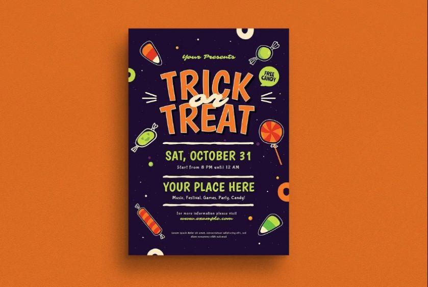 A4 Halloween Flyer Design