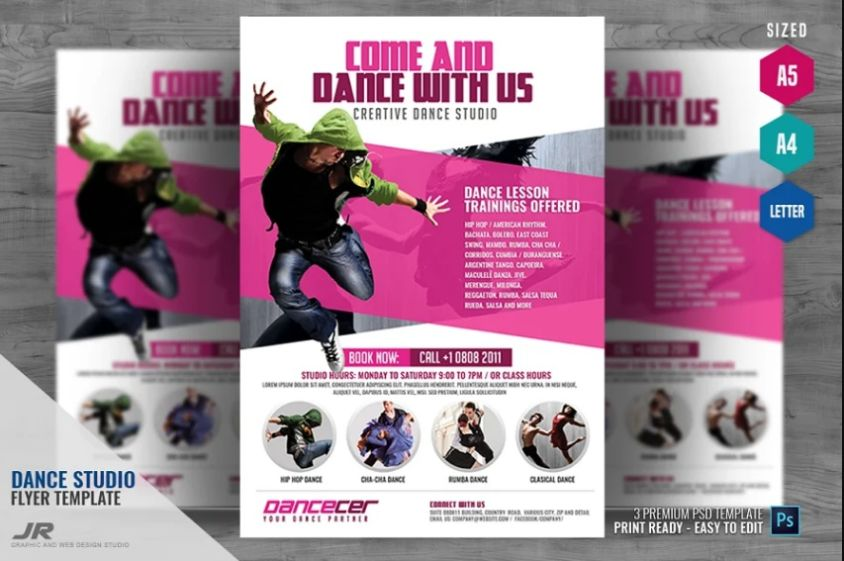 A4 and A5 Dance Studio Flyer