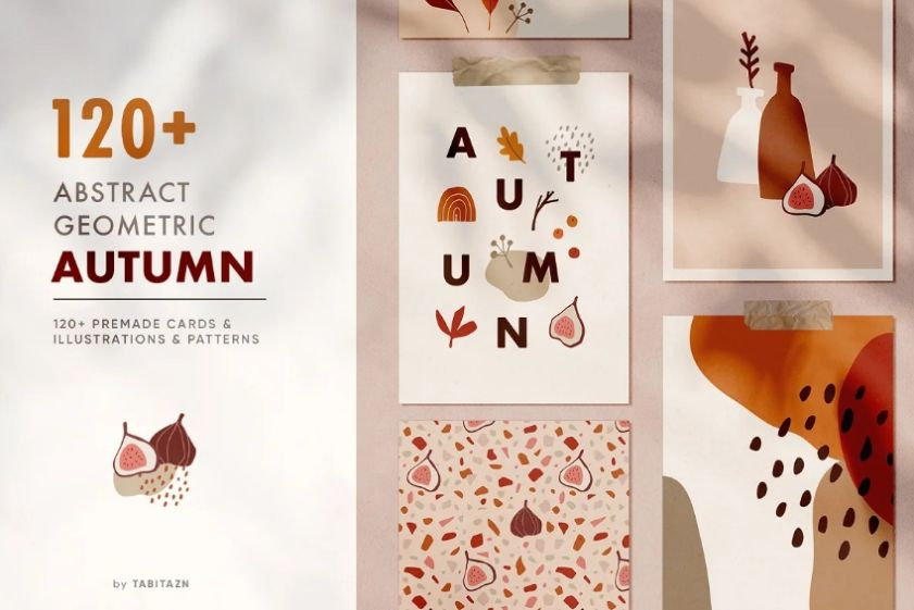 Abstract Autumn Illustrations and Patterns