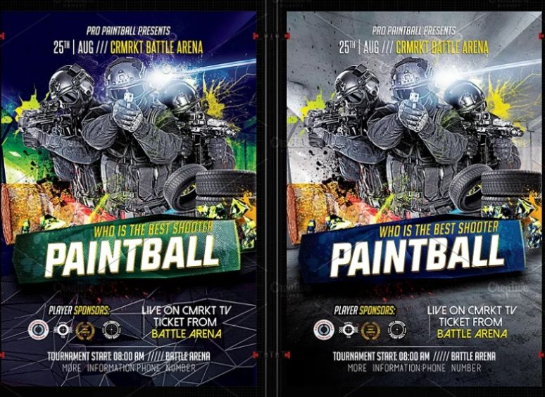 Airsoft Flyer Template PSD