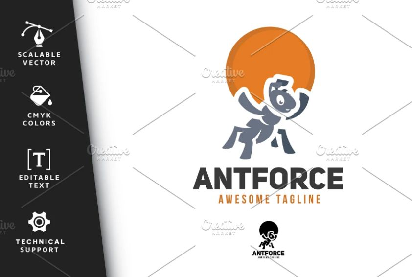 Ant Force Logotype Design