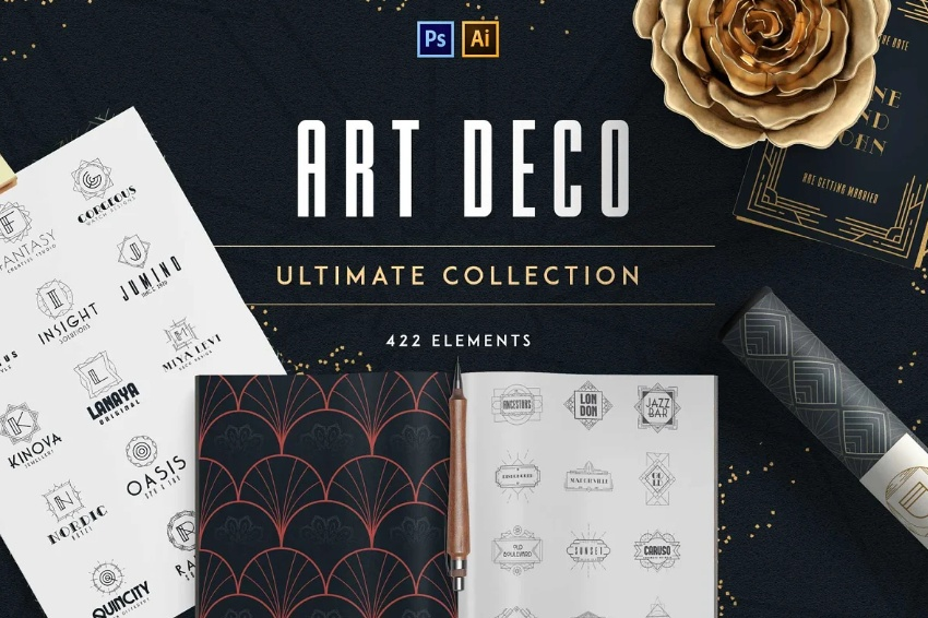 Art Deco Ultimate Logo Collection