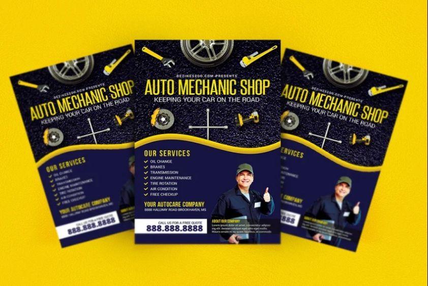 Auto Mechanic Shop Flyer Design