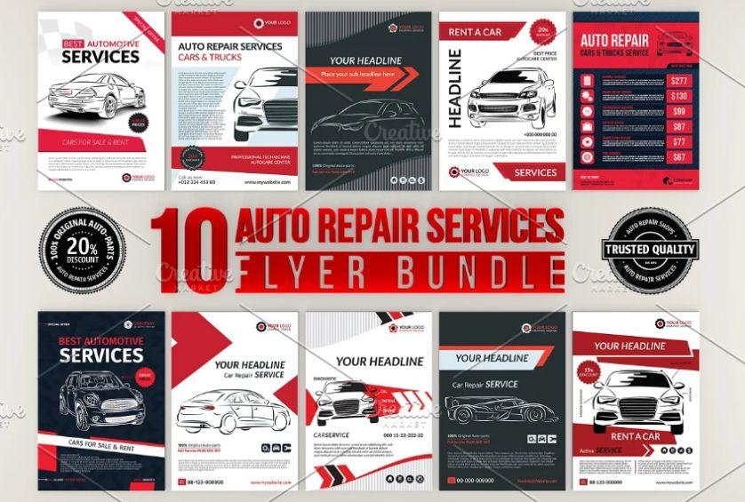 Auto Repair Flyers Bundle