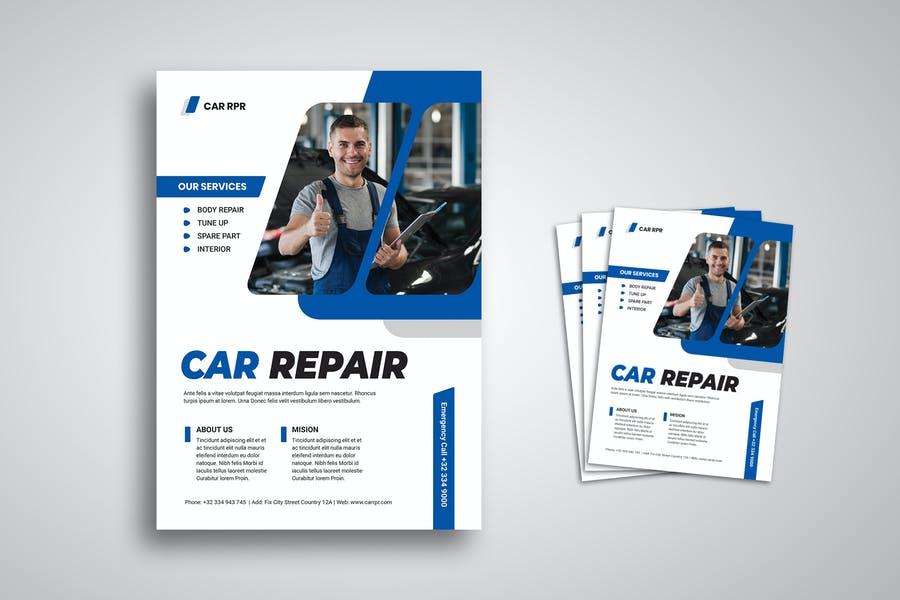 Automobile Repairing Flyer Design