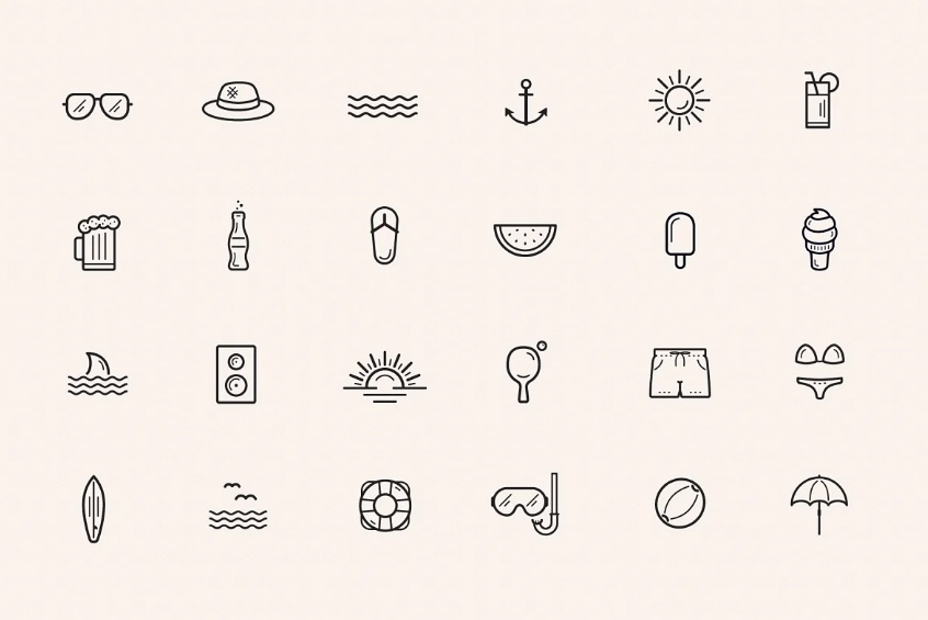 Beach and Summer Vector Elements