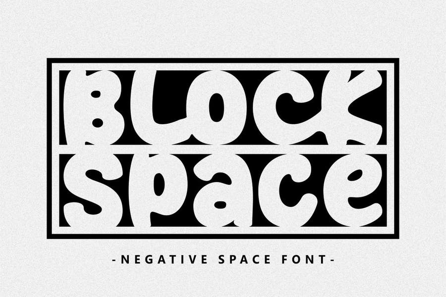 Block Style Space Typeface