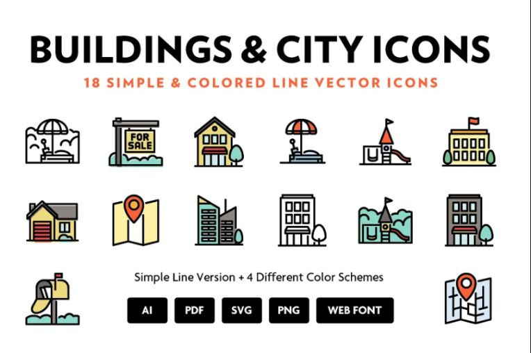 Buildings and City Icons