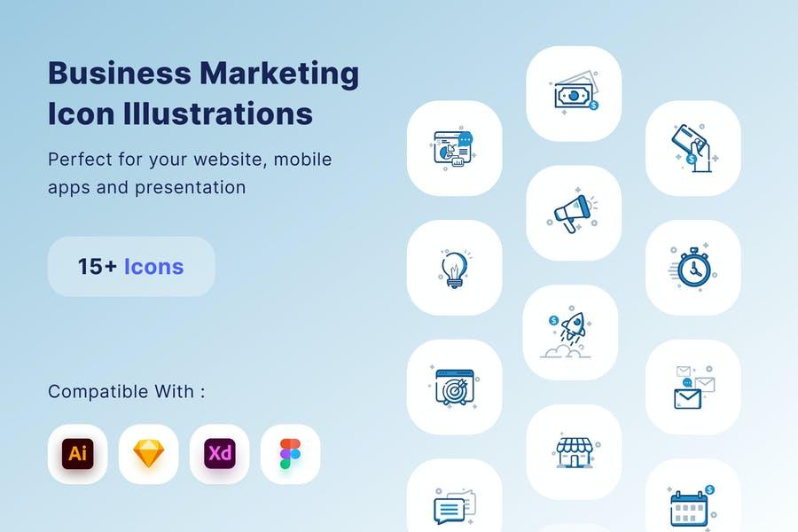 Business Marketing Icons Set