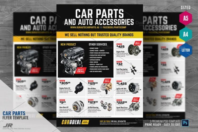 Car Parts Flyer Design