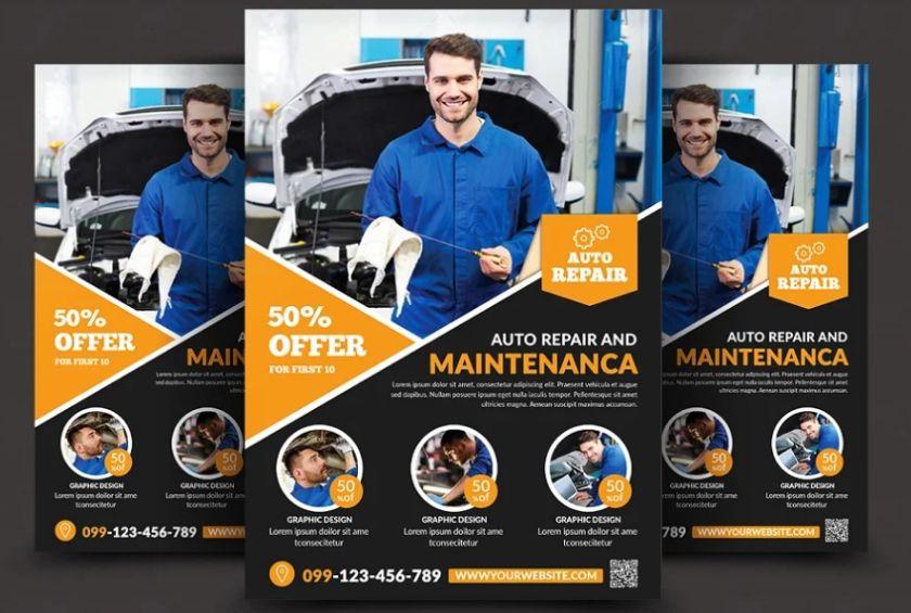 Car Services Flyer Design