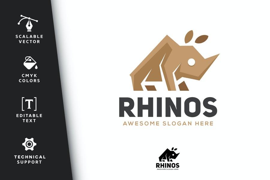 Colorful Rhino Logo Template