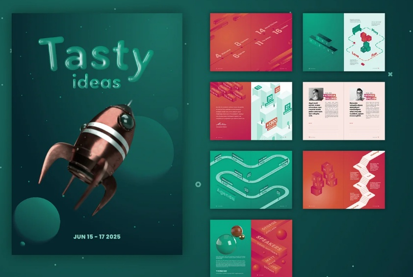 Conference Booklet Template Design