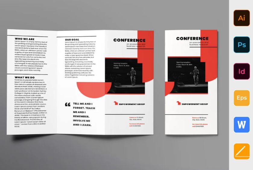 Conference Event Brochure Design