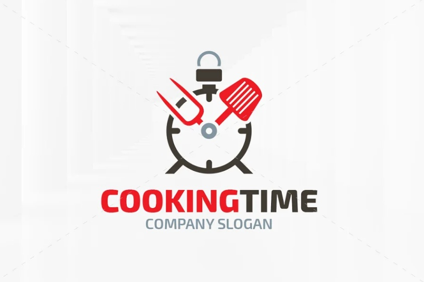 Cooking Time Logo Template