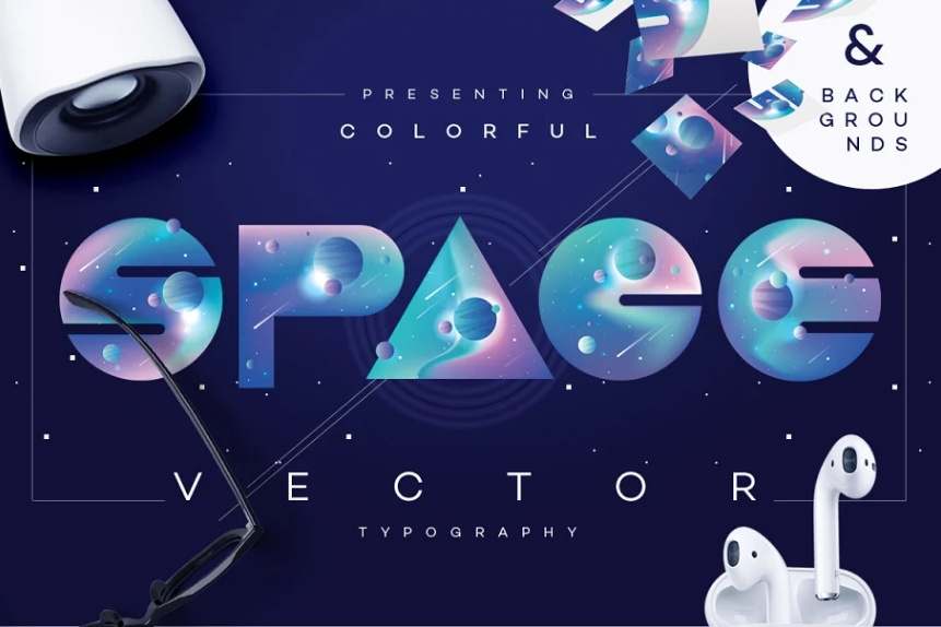Coorful Space Typeface
