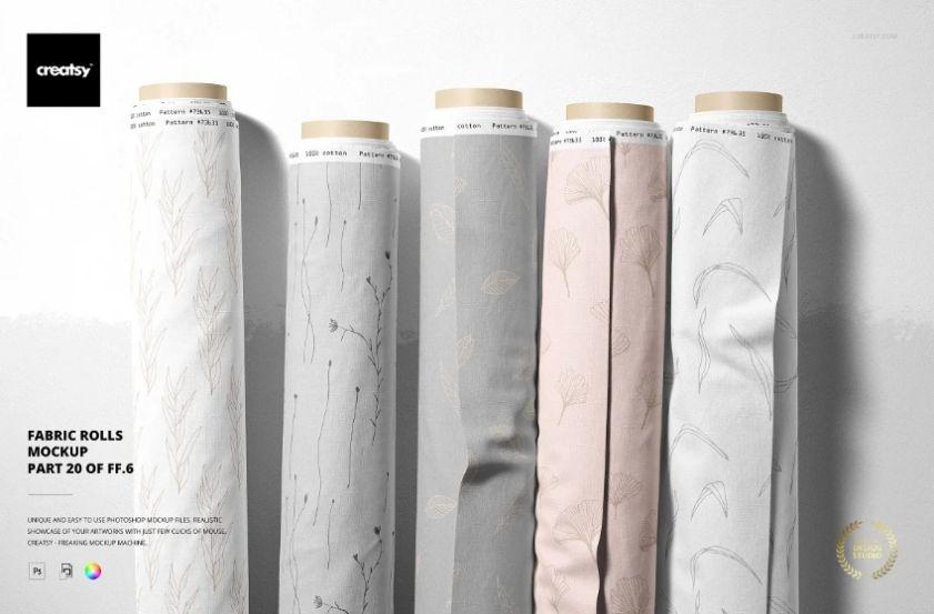Cotton Fabric Design Mockup