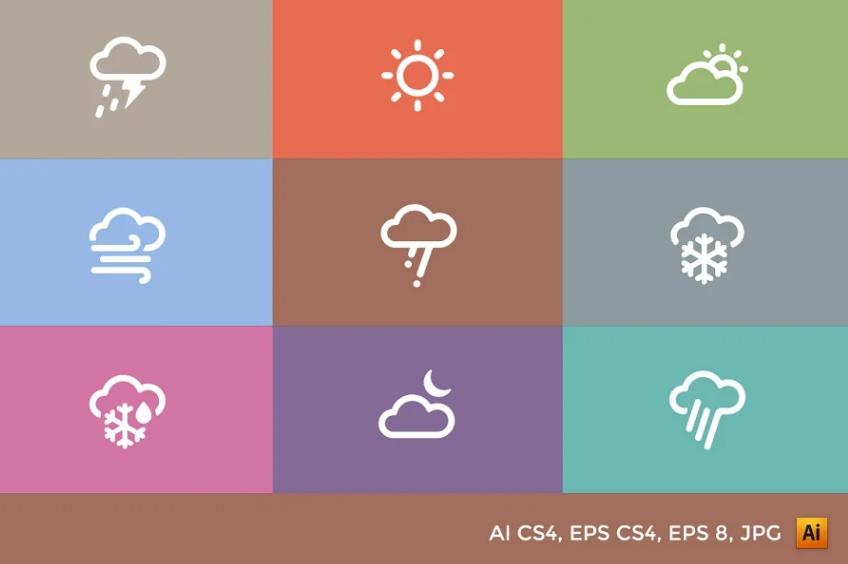 Creative Cloud Vector Set