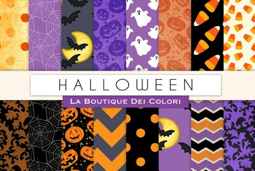 Creative Halloween Digital Papers