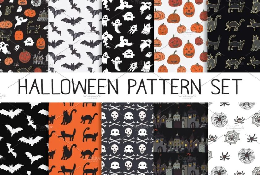 Creative Halloween Pattern Set