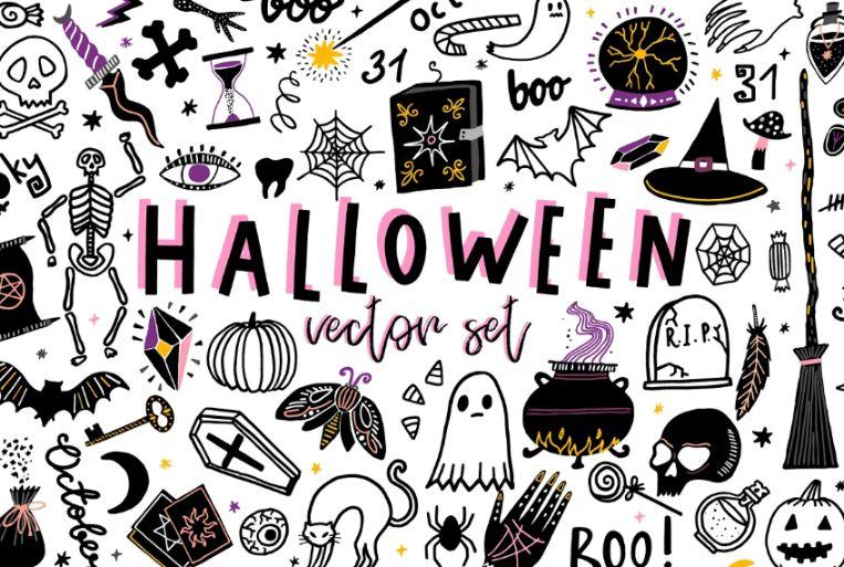 Creative Halloween Vector Set
