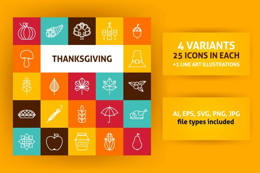 15+ Best Thanksgiving Day Icons Vector Download