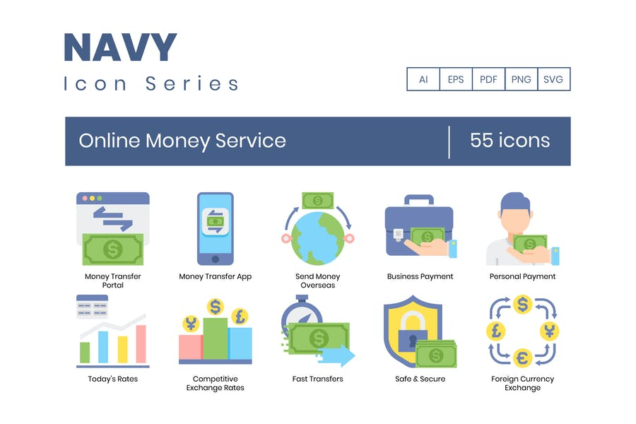Creative Online Banking Icons