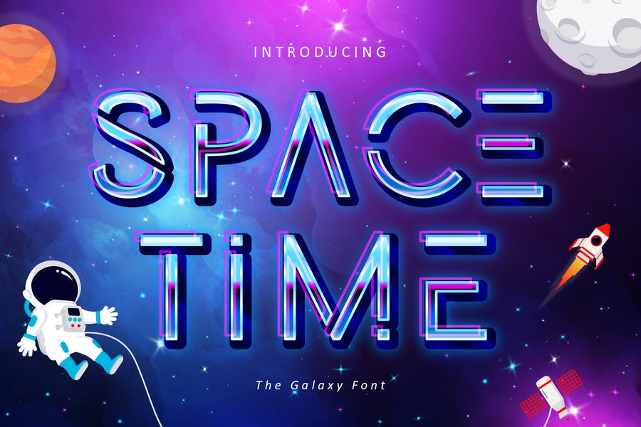 Creative Space Time Fonts