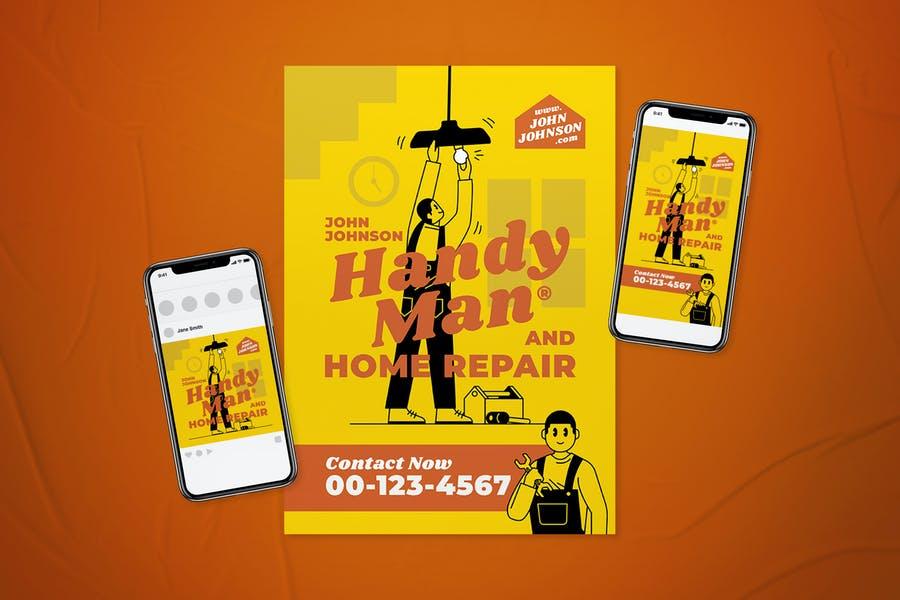 Customizable Handyman Promotinal Flyer