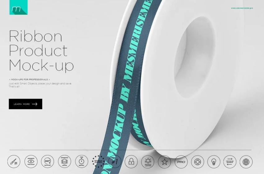 Customizable Ribbon Product PSD