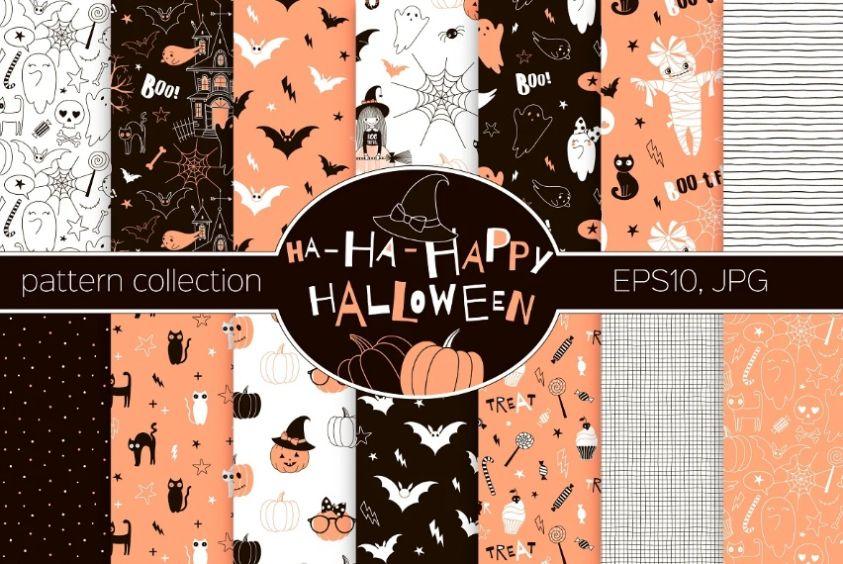 Cute Halloween Girly Patterns