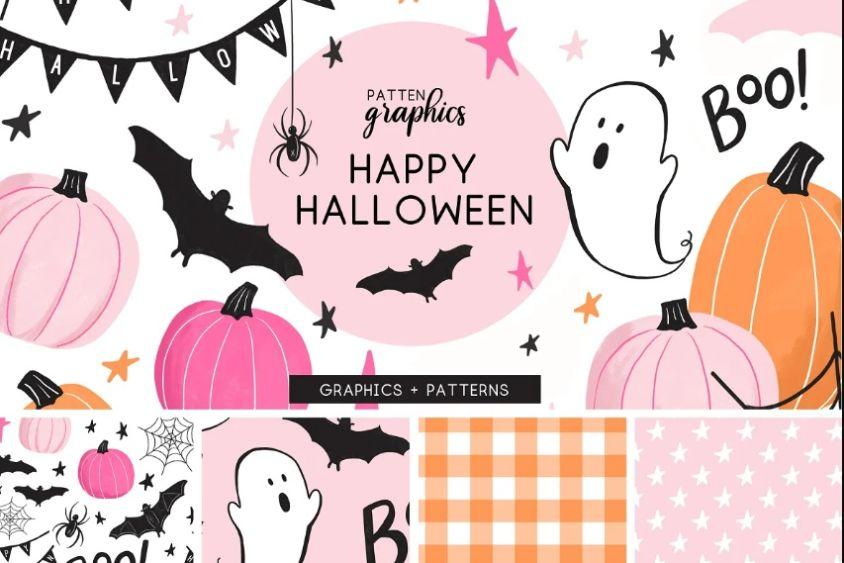 Cute Happy Halloween Patterns