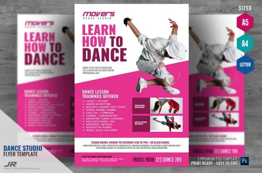 Dance Studio Advert Flyer