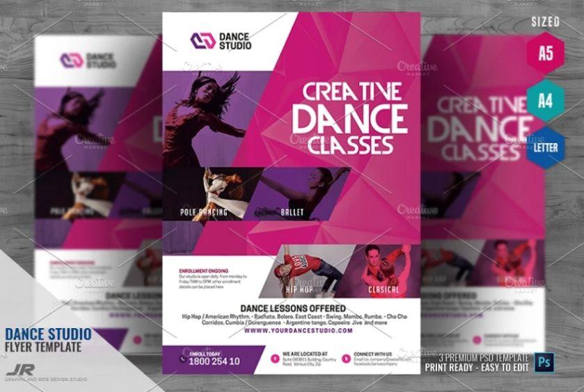 Dance Studio and Tutoring Flyer
