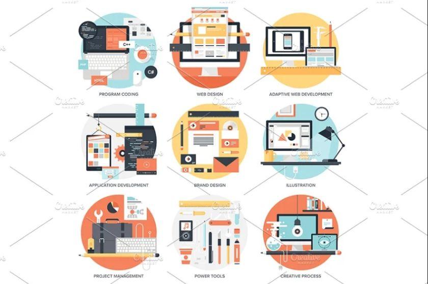 Design and Development Vector Illustrations