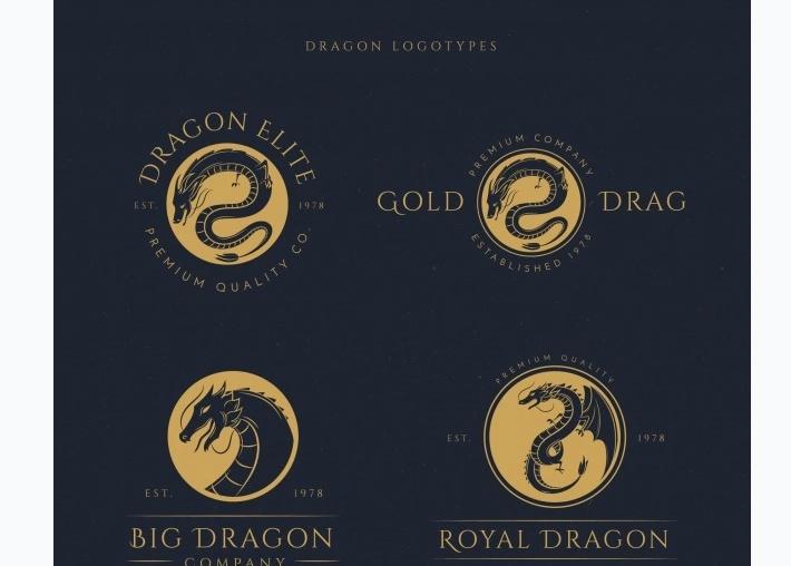 Drag Logo Identity Set