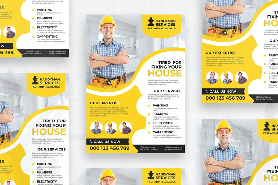 Easy Editable Cleaning Flyer Template