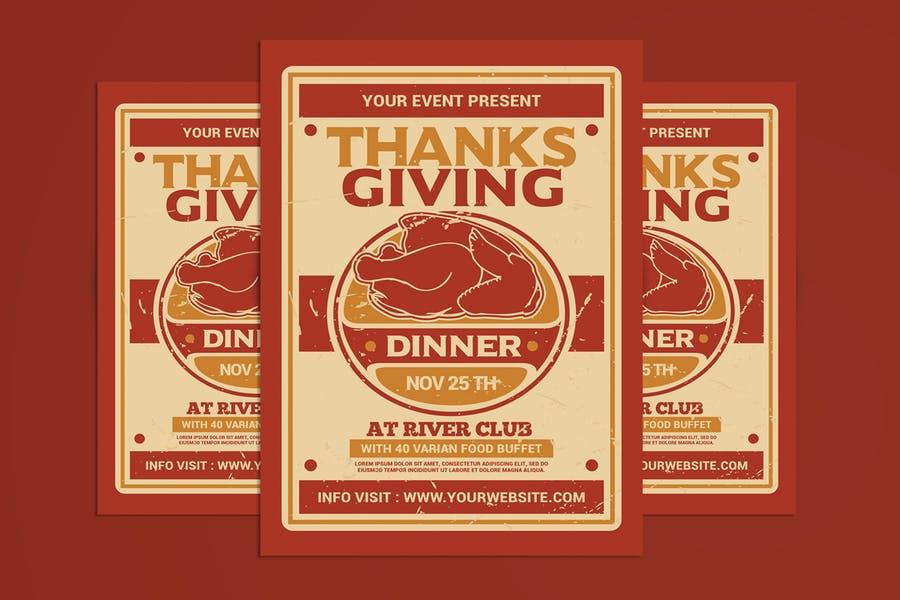 Editable Thanksgiving Day Flyer