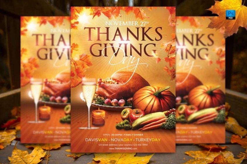 Editable Thanksgiving Flyer Design