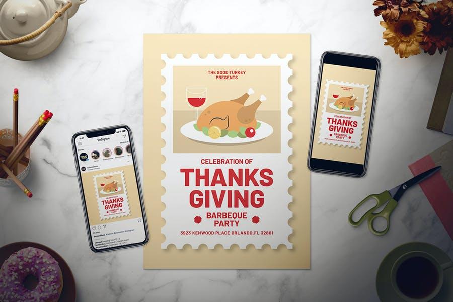 Editable Thanksgiving Flyer Set