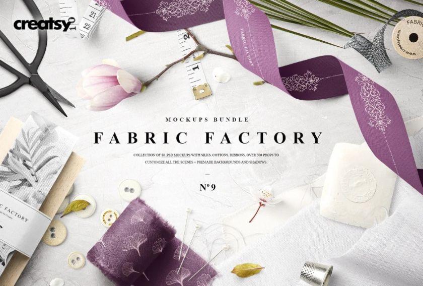 Elegant Fabric Mockups Bundle