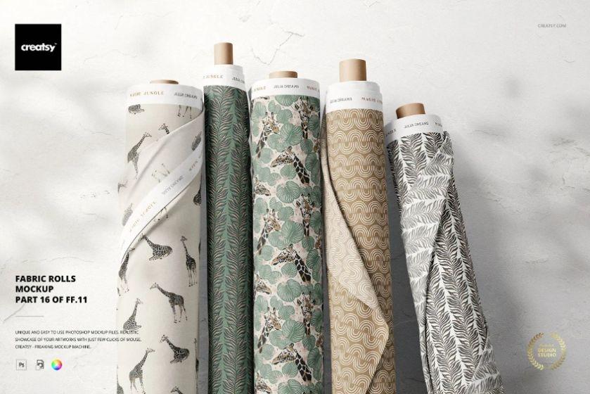 Fabric Pattern Design Mockup