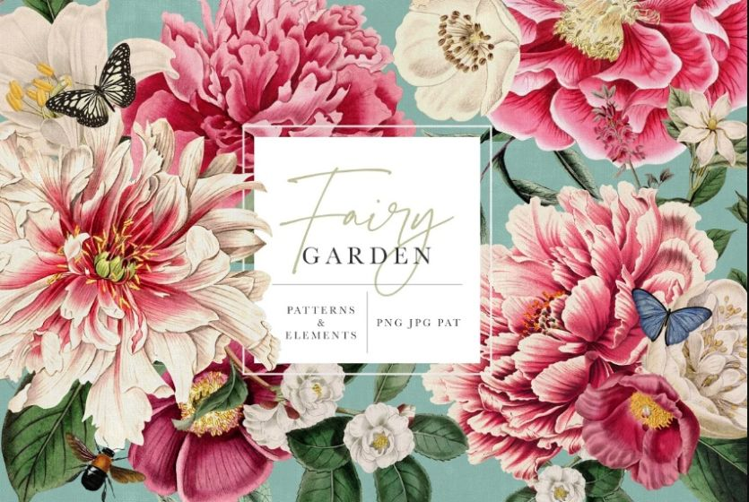 Fairy Garden Patterns and Illustrations
