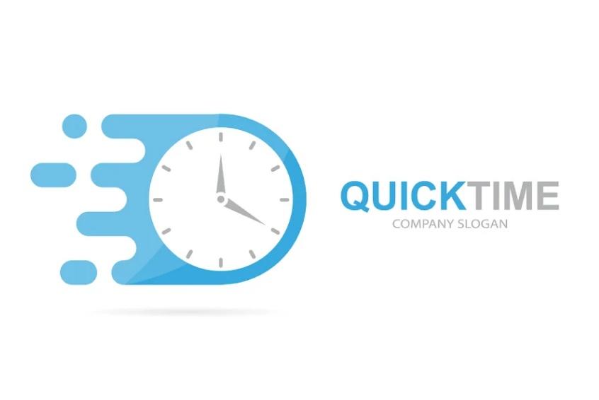 Fast Clock Logo Design