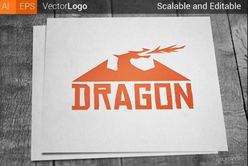 Fierce Dragon Vector Logo
